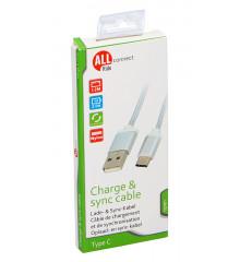ALLRIDE Connect Nabíjecí kabel USB-C, 120 cm
