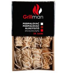GRILLMAN Dřevitý podpalovač 24 ks