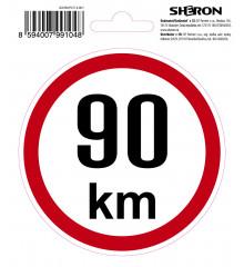 SHERON Samolepka - 90 km/h