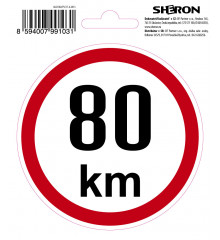 SHERON Samolepka - 80 km/h