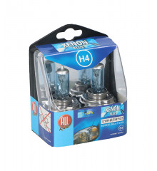 ALLRIDE Žárovka 12 V H4 xenon modrá 2 ks