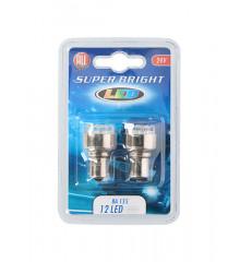 ALLRIDE Žárovka 24 V BA15S LED 12 diod, 2 ks