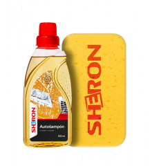 SHERON Autošampon s voskem 500 ml + houba