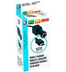 ALLRIDE Nabíječka USB-C kroucený kabel 2 A