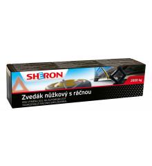 SHERON Zvedák nůžkový 2000 kg s ráčnou