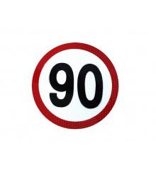 Reflexní samolepka 90 km/h
