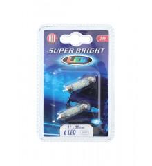 ALLRIDE Žárovka 24 V 11x38 mm LED 6 diod, 2 ks