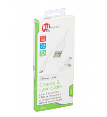 ALLRIDE Connect Nabíjecí kabel micro USB, typ C, iPhone