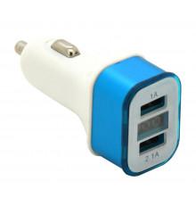 Zástrčka KOMBI - USB, voltmetr, ampérmetr (1,0+2,1A)
