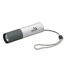 Svítilna kapesní LED 120lm ZOOM nabíjecí SILVER