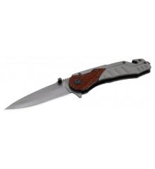 Nůž skládací WOOD s pojistkou 21cm