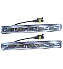 Světla denního svícení 5 HIGH POWER LED 12V/24V (185x23x55 mm)
