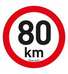 Samolepka omezení rychlosti  80km/h reflexní (200 mm)