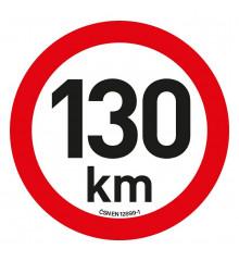 Samolepka omezení rychlosti  130km/h reflexní (200 mm)