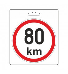 Samolepka omezená rychlost 80km/h (110 mm)
