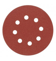 Brusný papír 125 mm P100 s otvory 5 ks suchý zip