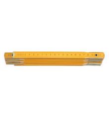 Metr skládací 2 m dřevěný žlutý