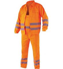 Pracovní oděv, reflexní kalhoty a blůza, CRESTON vel. L