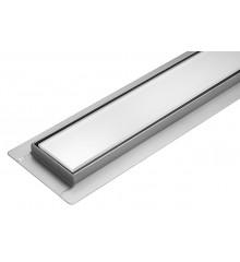 Lineární koupelnový žlab Bílé Sklo 90 cm WET&DRY