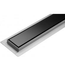 Lineární koupelnový žlab Černé Sklo 80 cm WET&DRY