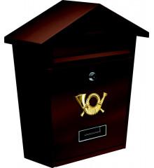 Poštovní schránka se stříškou 380x320x105mm hnědá