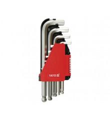 Sada klíčů imbus s kuličkou 10 ks delší
