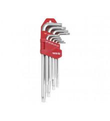 Sada klíčů TORX s otvorem 9 ks delší