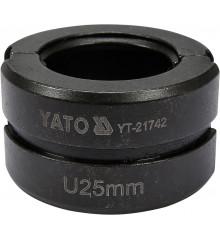 Náhradní čelisti k lisovacím kleštím YT-21735 typ U 25mm